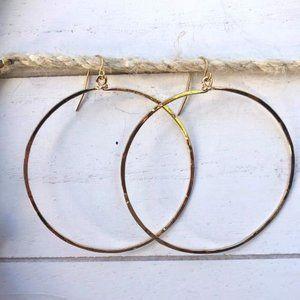 Large Minimalistic Gold Hoops